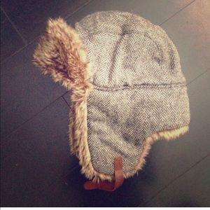 Madewell fur trapper hat